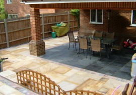 Patio and Extension in Chorleywood